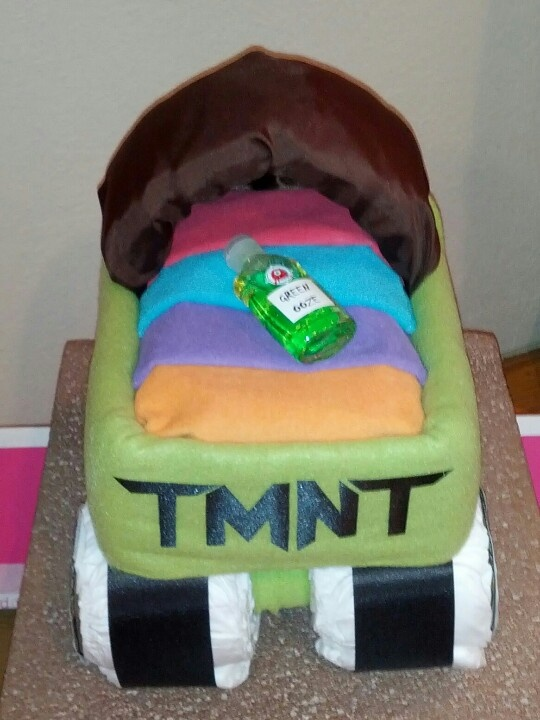 7 Turtle Cakes Ninja Turtles Baby Shower Photo Ninja Turtle Baby
