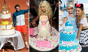 Surprising 10 Best Cakes Of Famous Celebrity Photo Best Celebrity Birthday Funny Birthday Cards Online Aboleapandamsfinfo