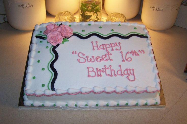 Terrific 12 Popular Girls Sheet Birthday Cakes Photo Birthday Sheet Cake Personalised Birthday Cards Cominlily Jamesorg