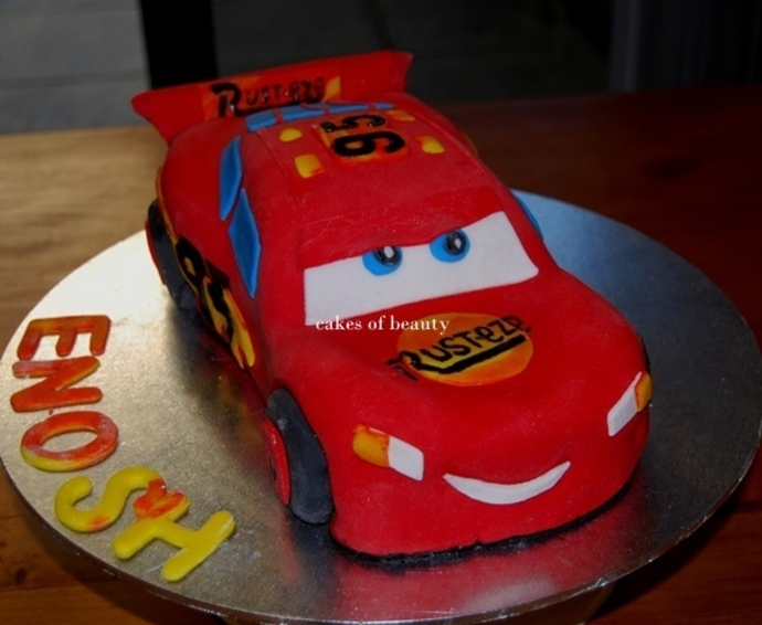Admirable 8 Do It Yourself Cars Cakes Photo Cars Lightning Mcqueen Personalised Birthday Cards Veneteletsinfo