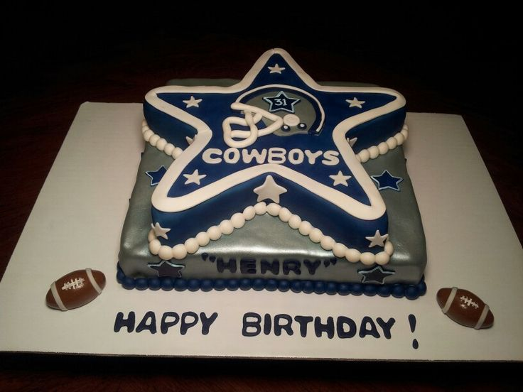 13 Dallas Cowboys Themed Birthday Cakes Photo Dallas Cowboys Cake