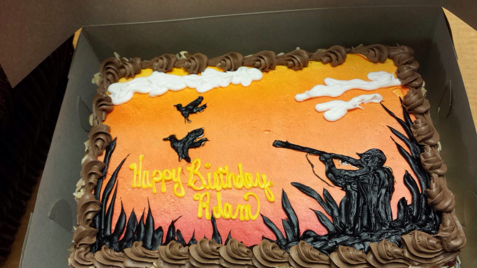 8 Duck Hunting Sheet Cakes Photo Hunting Birthday Cake Hunting