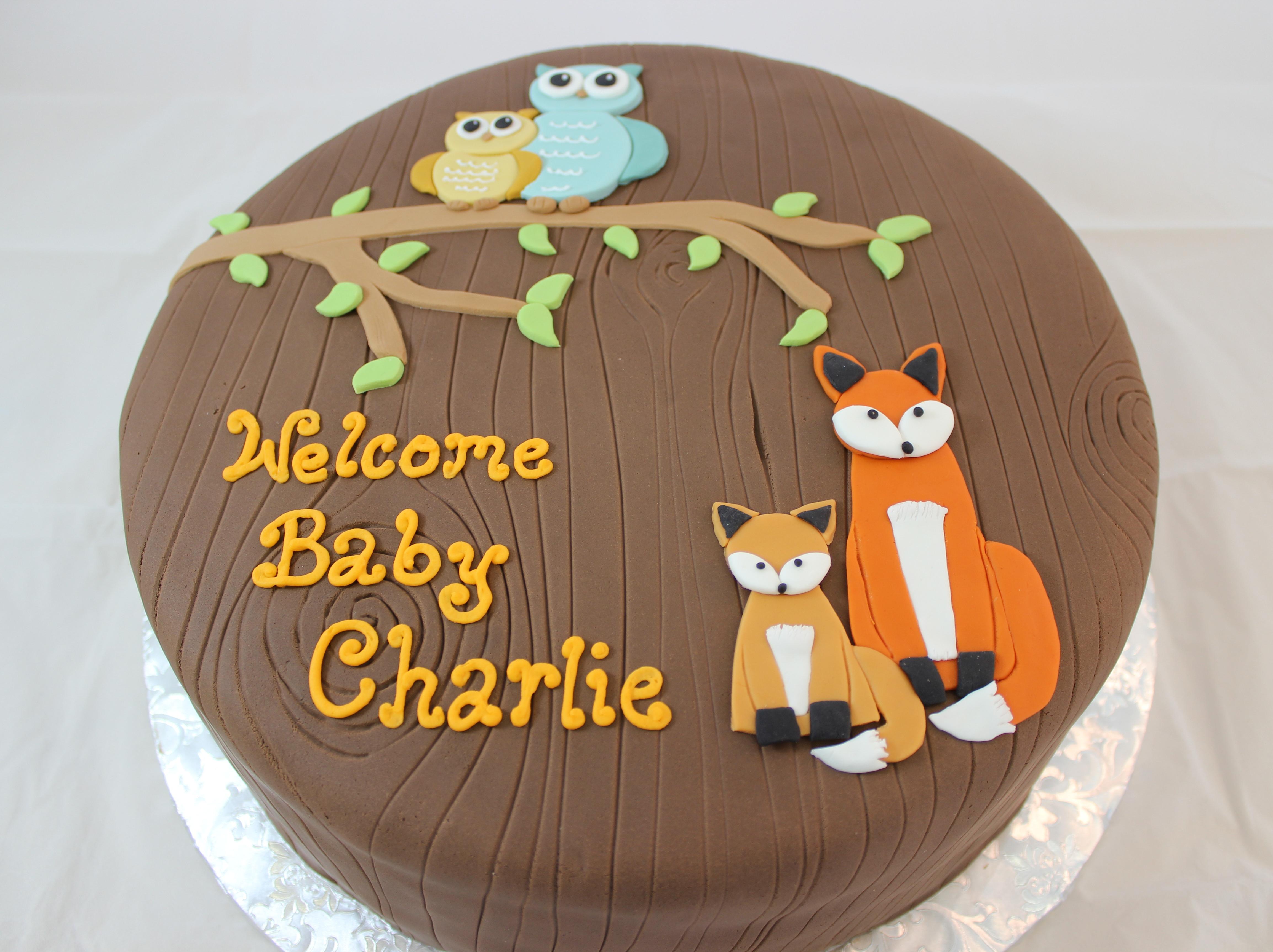 11 Pinterest Woodland Themed Baby Cakes Photo Woodland Baby Shower