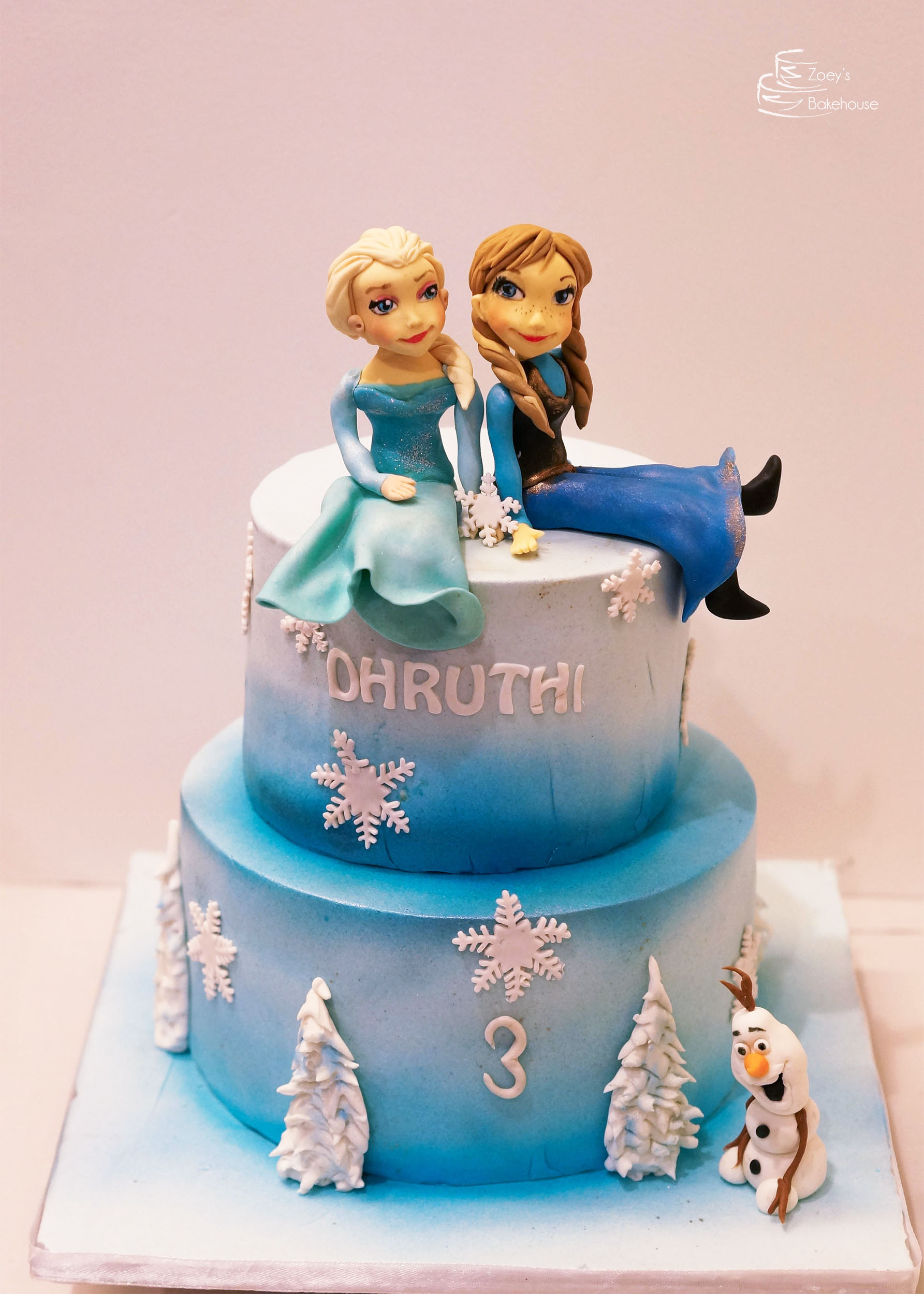 10 Frozen Disney Princess Cakes For Girls Photo Frozen Birthday