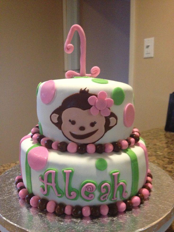 12 Monkey Birthday Cakes For Girls Photo Girl Monkey Birthday