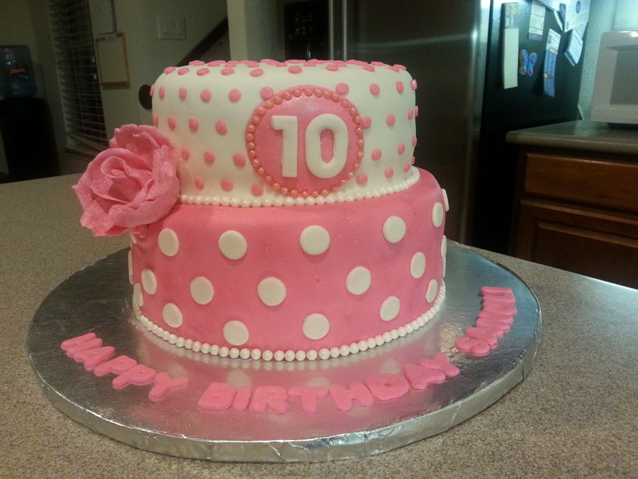 8 10th Birthday Cakes For Girl With Pink And Purple Photo 10th