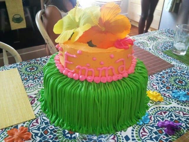 8 Hawaiian Cakes For Girls Photo Girls Hawaiian Birthday Cake