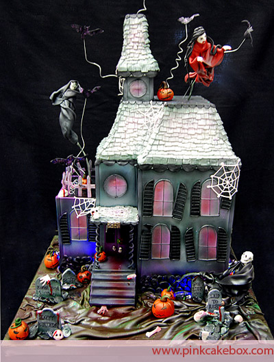 Marvelous 11 Halloween Haunted House Bday Cakes Photo Halloween Haunted Personalised Birthday Cards Epsylily Jamesorg