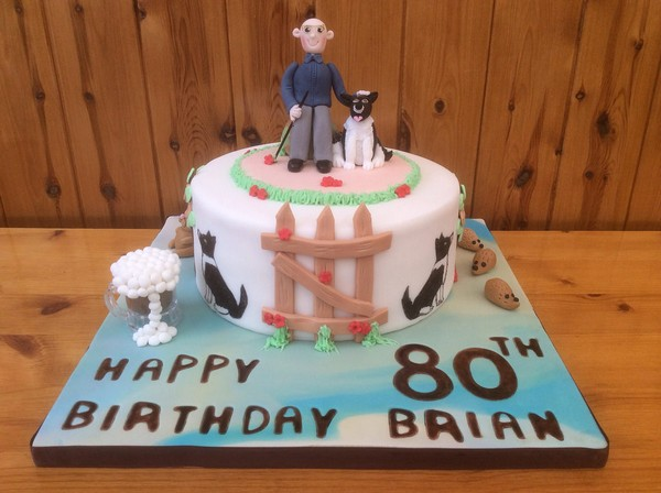 Happy 80th Birthday Cake For Men