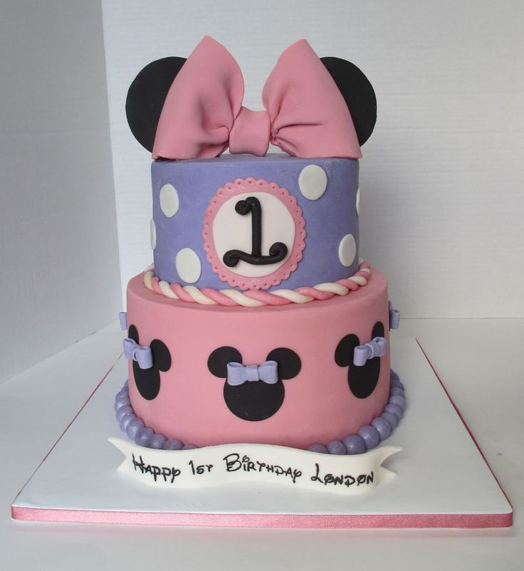 10 One Year Old Birthday Cakes Minnie Mouse Photo Minnie Mouse