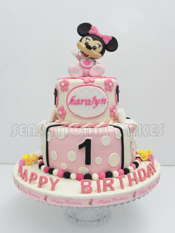 Astounding 13 Baby Mickey And Minnie 1St Birthday Cakes Photo Minnie Mouse Funny Birthday Cards Online Unhofree Goldxyz