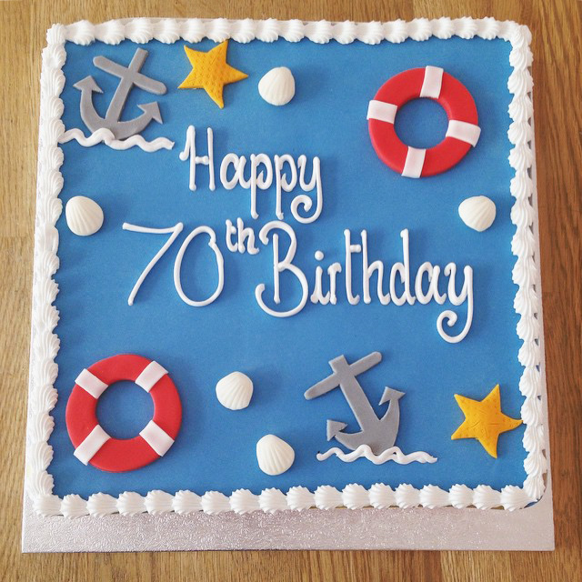 11 Nautical 60th Birthday Sheet Cakes Photo Nautical Baby Shower