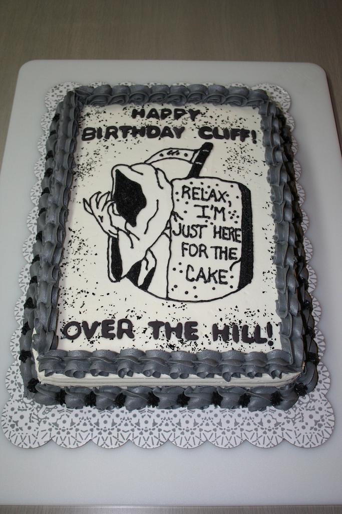 Remarkable 10 Runner Over The Hill Cakes Photo Over The Hill Birthday Cake Personalised Birthday Cards Vishlily Jamesorg