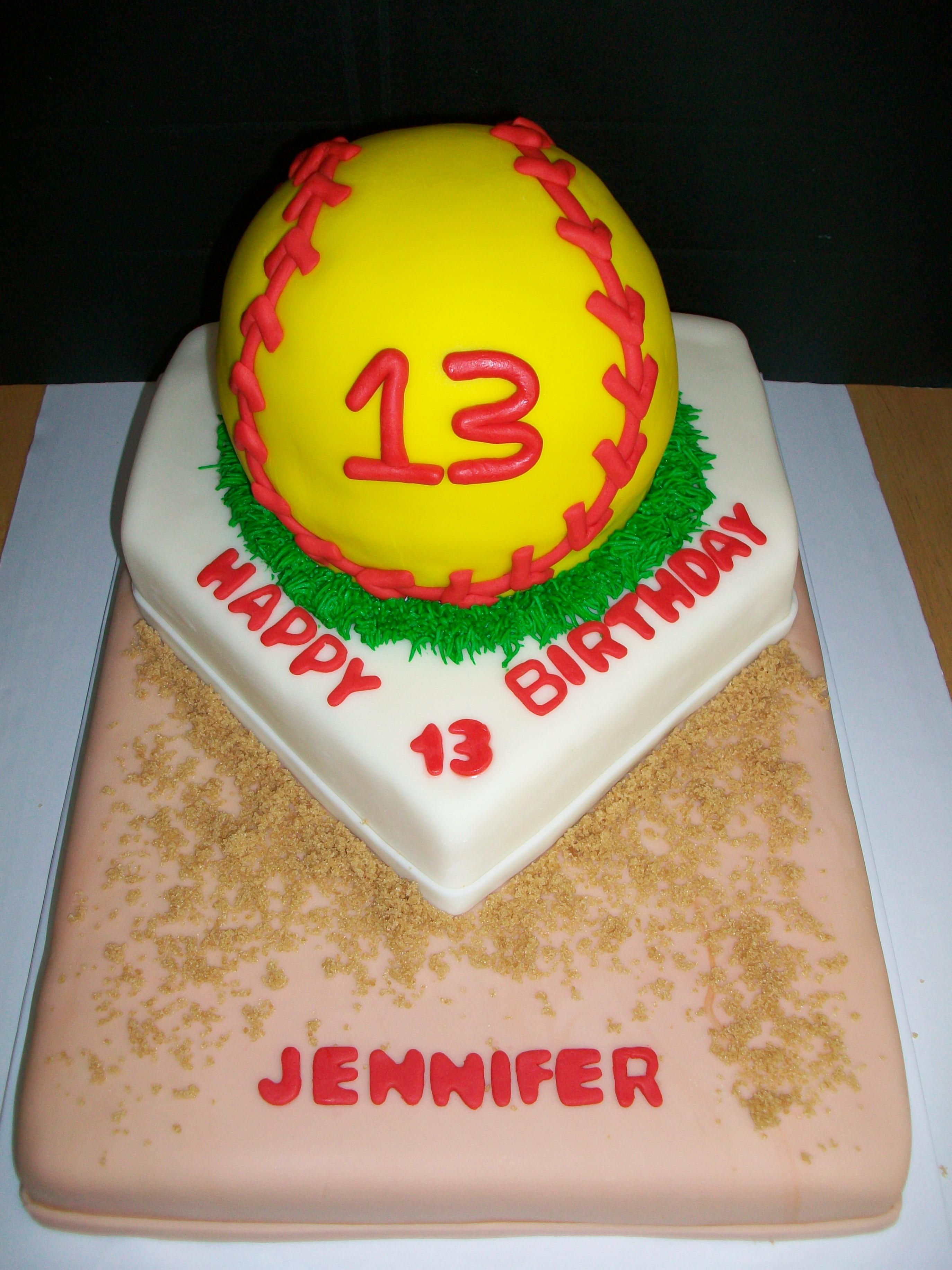 Superb 13 Softball Bday Cakes Photo Softball Birthday Cake Softball Personalised Birthday Cards Paralily Jamesorg