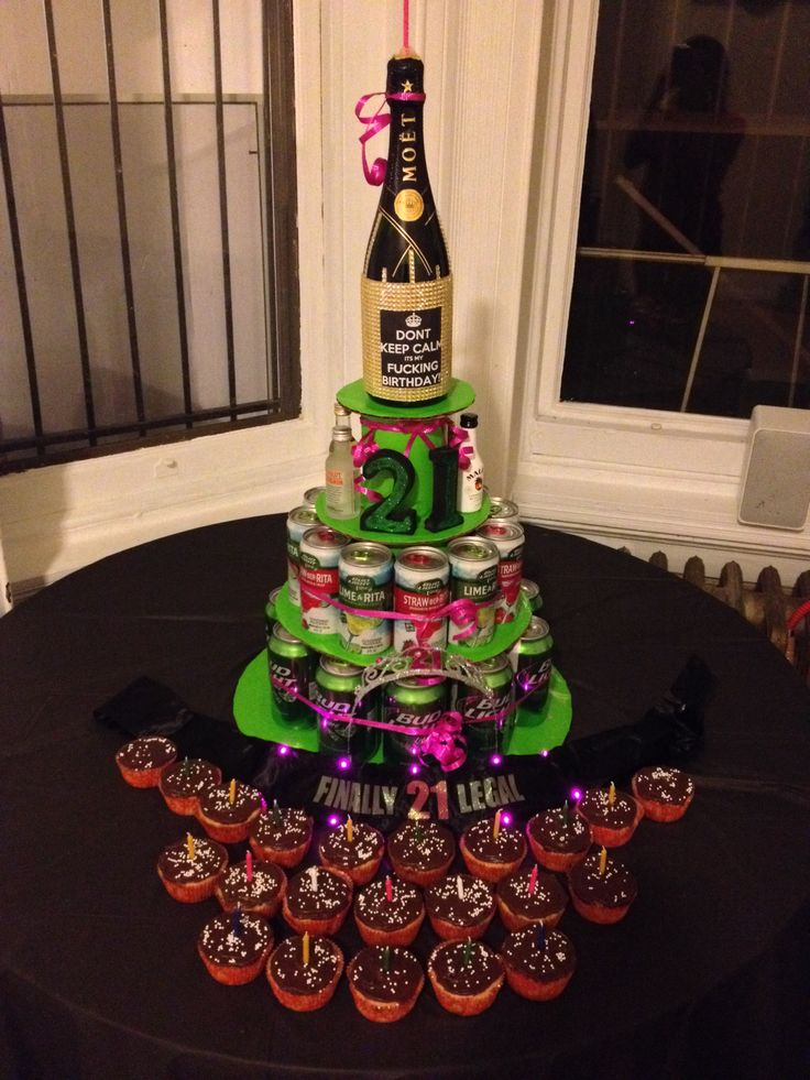 21st Birthday Cakes With Alcohol