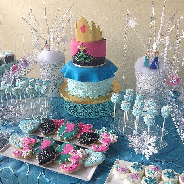 Birthday Cake Anna And Elsa Frozen