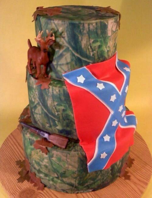 Camo Wedding Cake Via Rebel Flag