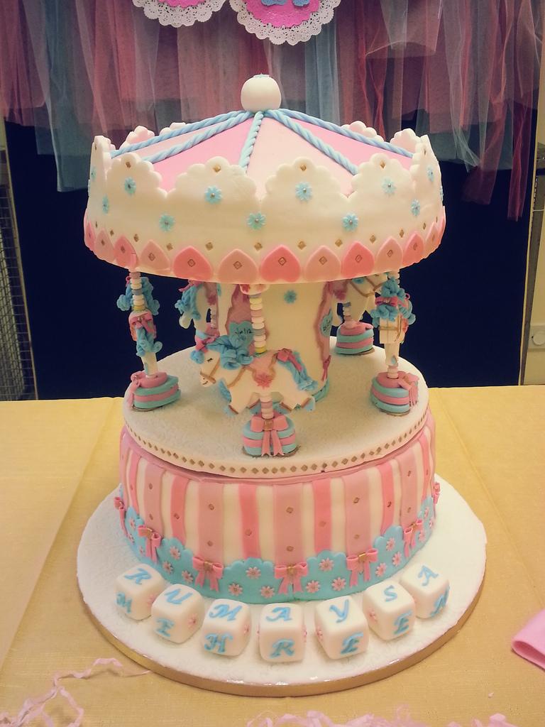 7 Carousel Fondant Cakes Photo Carousel Horse Birthday Cake