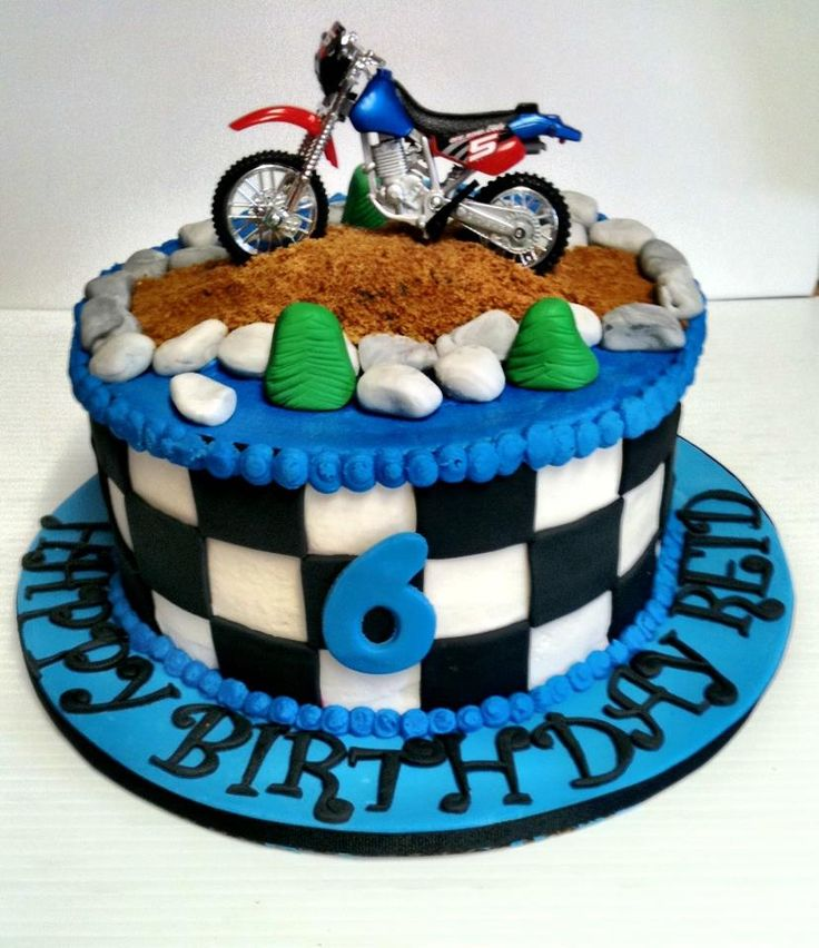 Fine 7 Unique Dirt Bike Cakes Photo Dirt Bike Birthday Cake Idea Funny Birthday Cards Online Overcheapnameinfo