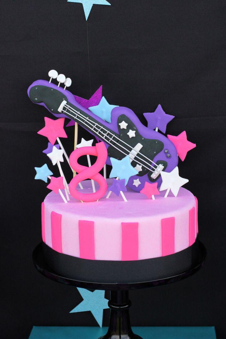 Girls Rock Star Birthday Party Cake