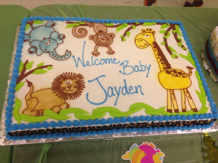 Birthday Cakes Jungle Theme ~ Safari shower sheet cakes photo jungle baby shower sheet