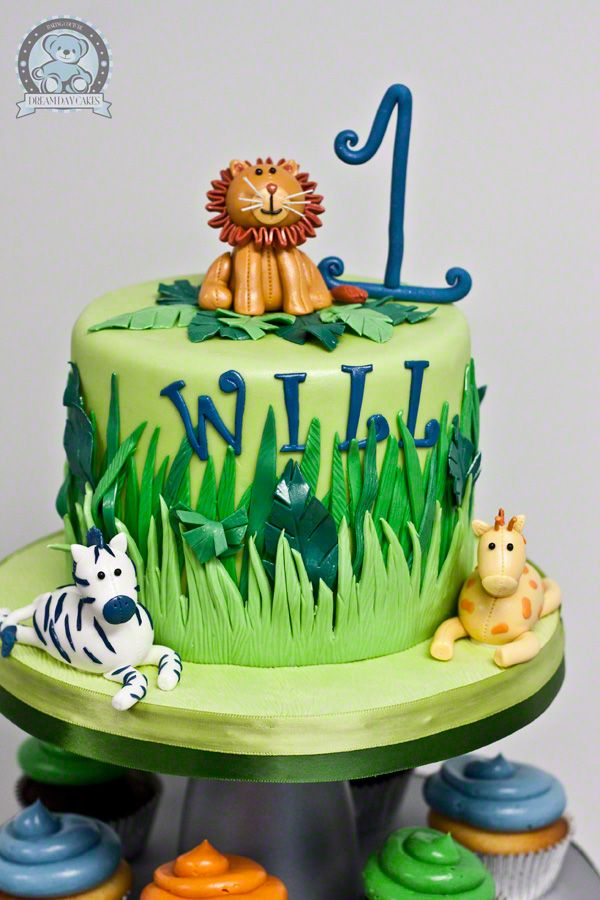 13 Rainforest Theme Birthday Cakes Photo Jungle Themed Birthday