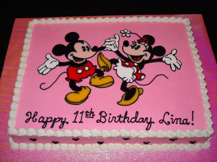 Marvelous 9 Mickey And Minnie Mouse Birthday Sheet Cakes Photo Mickey And Funny Birthday Cards Online Amentibdeldamsfinfo