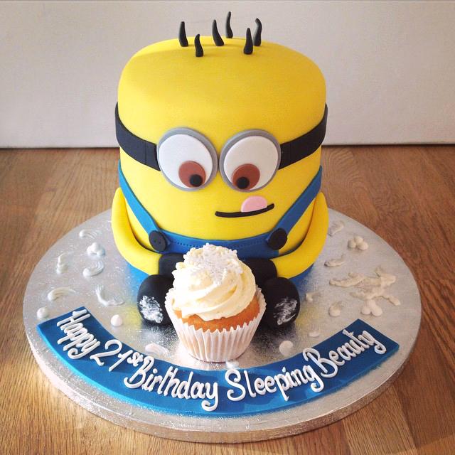 7 21 Birthday Cakes Minion Photo Minion Birthday Cake Minion