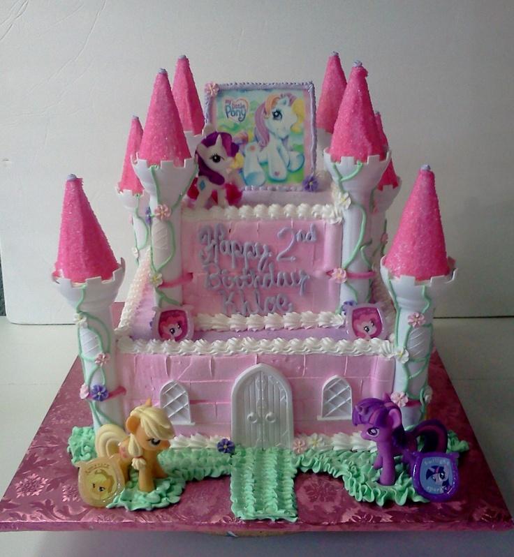 8 My Little Pony Castle Birthday Cakes Photo My Little Pony Castle