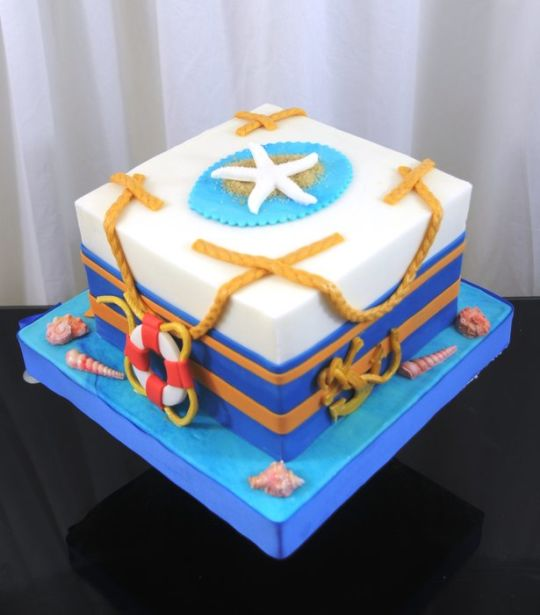 Astonishing 9 Flat Theme Nautical Cakes Photo Nautical Theme Cake Nautical Funny Birthday Cards Online Inifofree Goldxyz