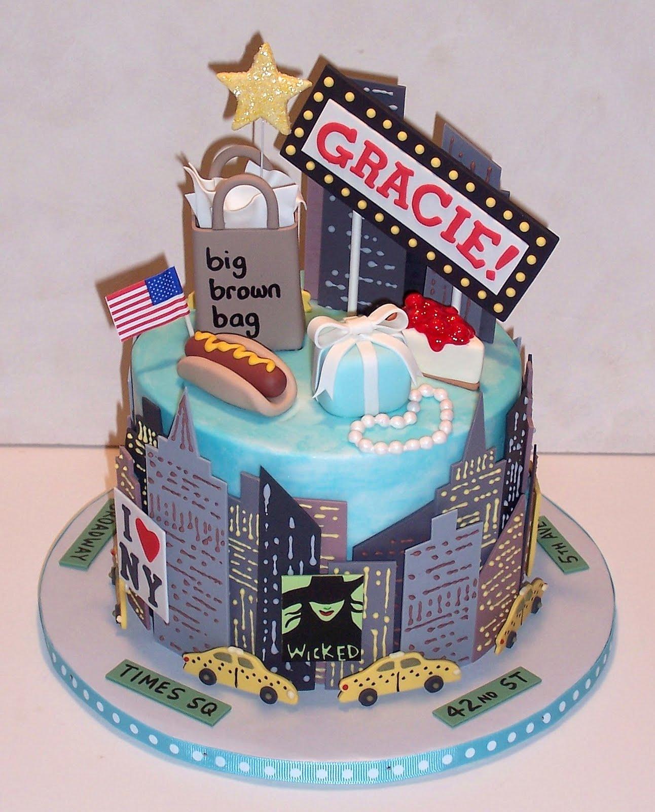 9 Nyc Themed Birthday Cakes Photo New York Cake New York Birthday