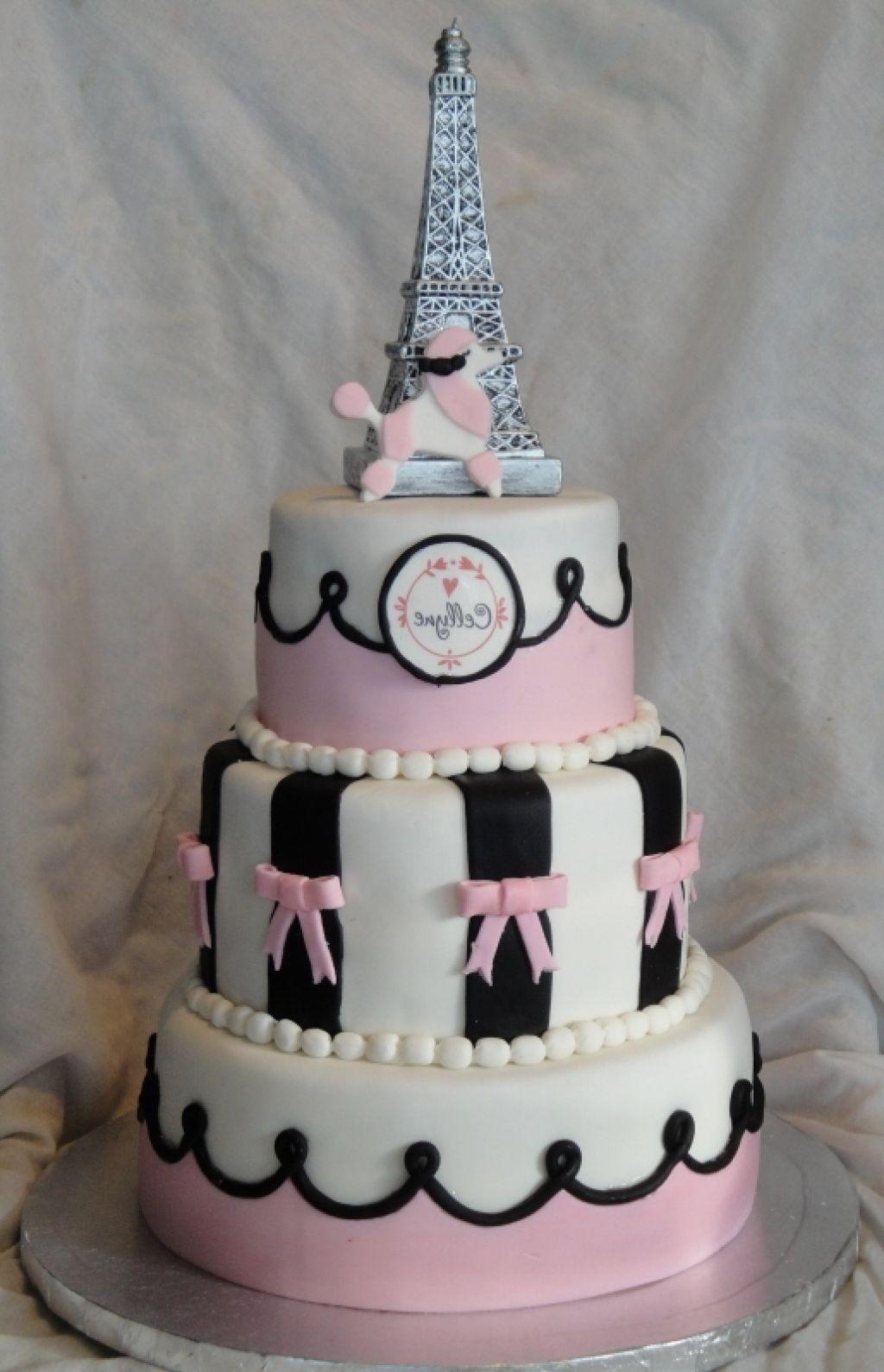12 Turquise Cakes Paris Birthday Photo Paris Birthday Cake