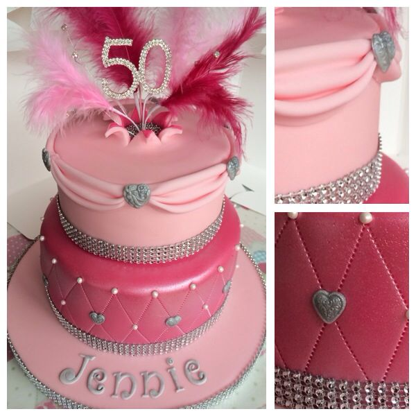 Pink And Sparkly Birthday Cake