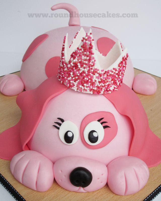 Cool 13 Pink Doggie Cakes Photo Puppy Dog Birthday Cake Ideas Funny Birthday Cards Online Drosicarndamsfinfo