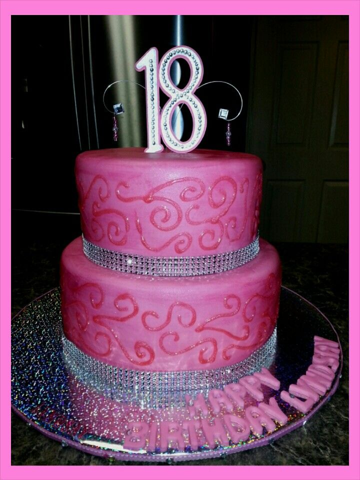 Sparkly 18th Birthday Cake