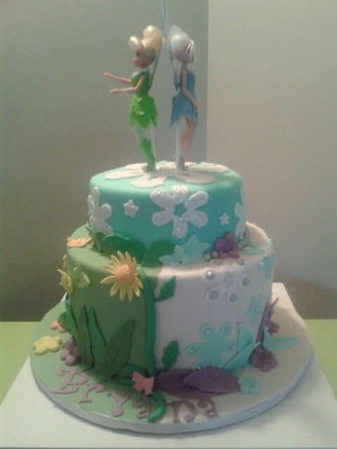 12 Periwinkle Tinkerbell Birthday Cakes Photo Tinkerbell And