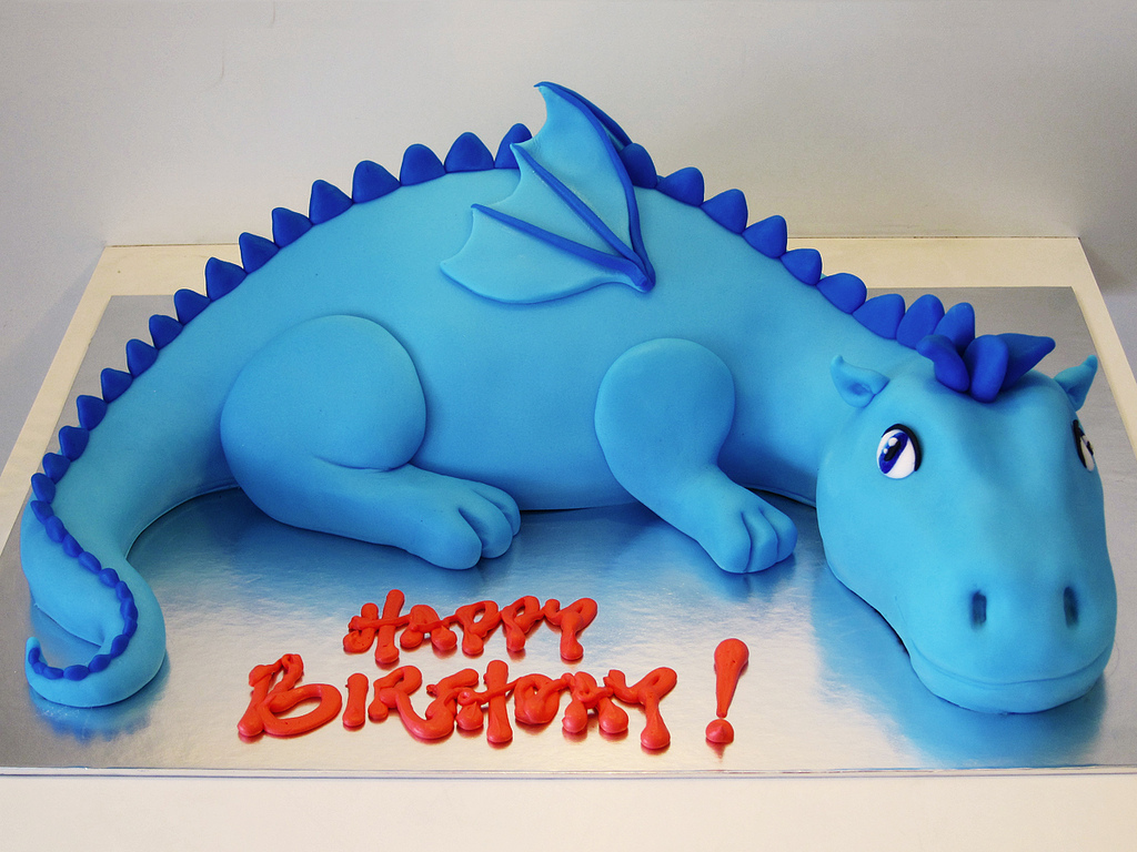 Astounding 12 Blue Dragon Celebration Cakes Photo Dragon Birthday Cake Funny Birthday Cards Online Alyptdamsfinfo