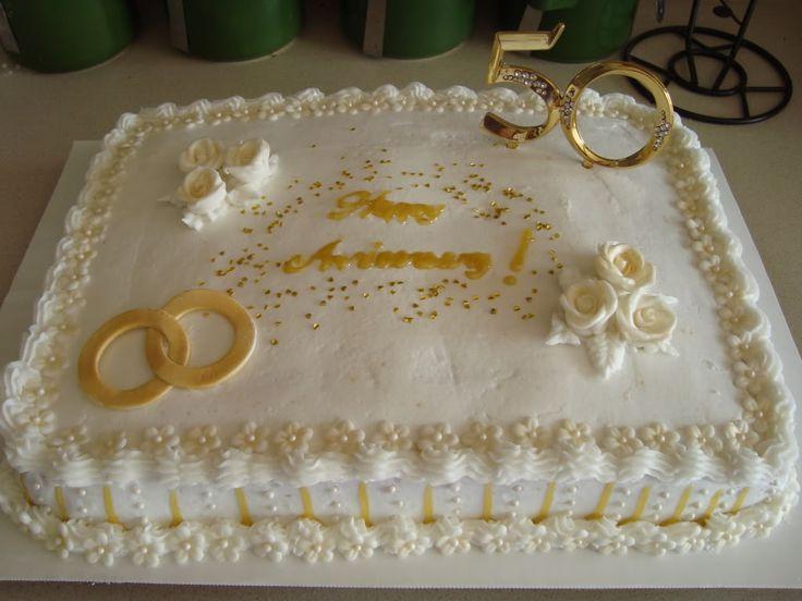 10 Wedding Anniversary Sheet Cakes Photo - 50th Wedding Anniversary ...