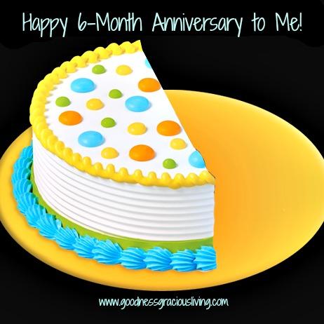 6 Month Happy Birthday Cake