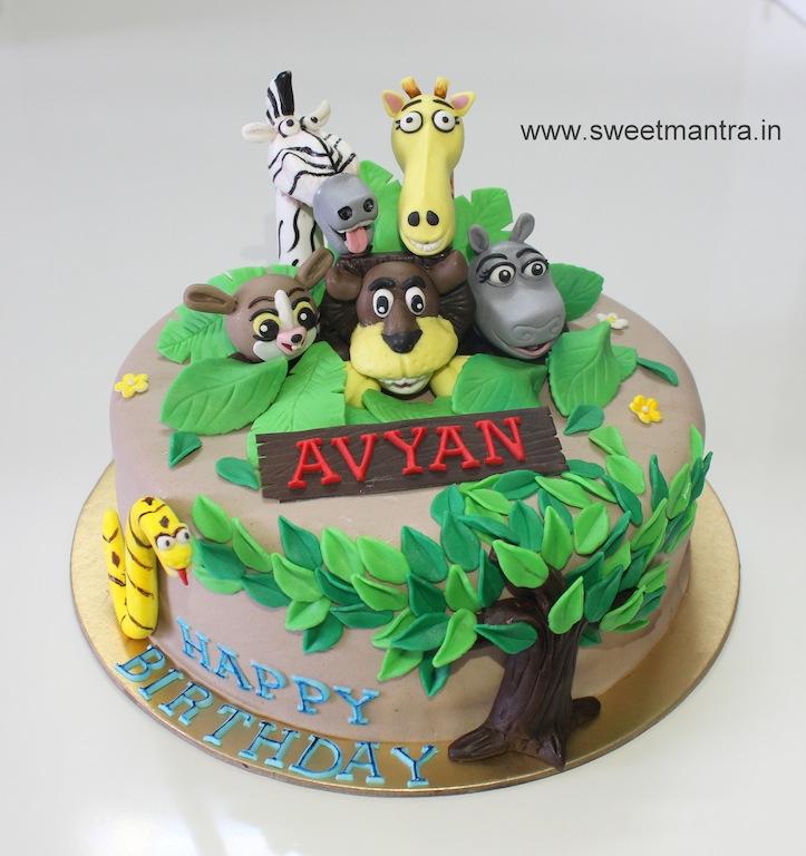 11 Animal Birthday Cakes For Boys Photo Animal 1st Birthday Cake