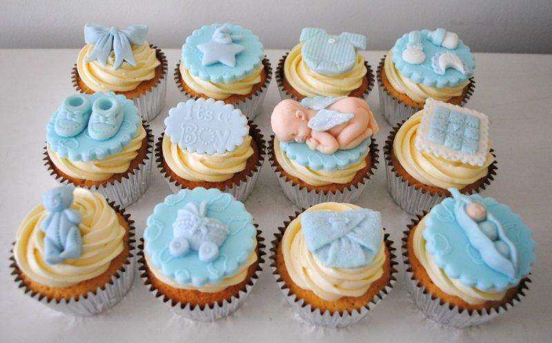 8 Baby Boy Baptism Cupcakes Photo Baby Boy Shower Cupcake Cakes