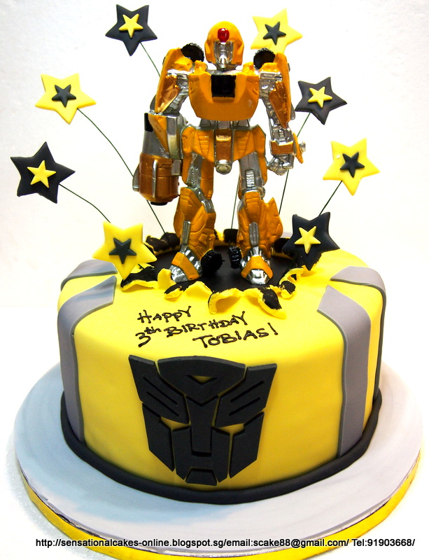 Bumble Bee Transformer Birthday Cake