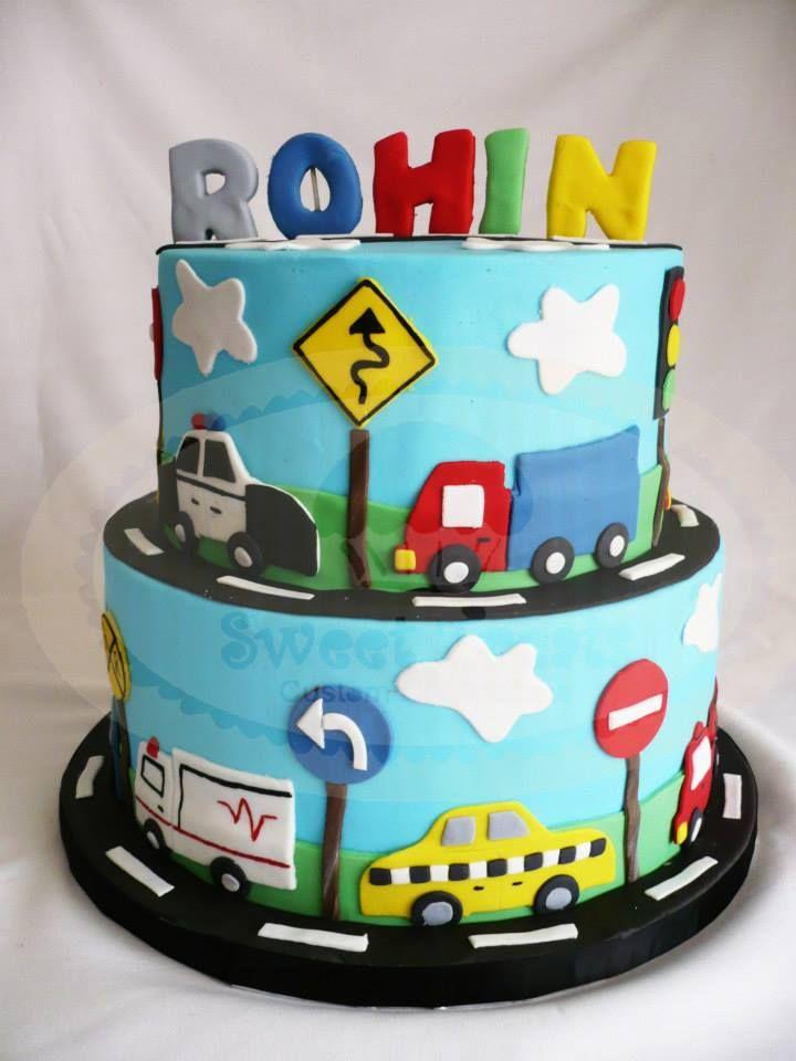 Swell 10 Boy Birthday Cakes Cars Trucks Photo Cars And Trucks Cake Funny Birthday Cards Online Amentibdeldamsfinfo