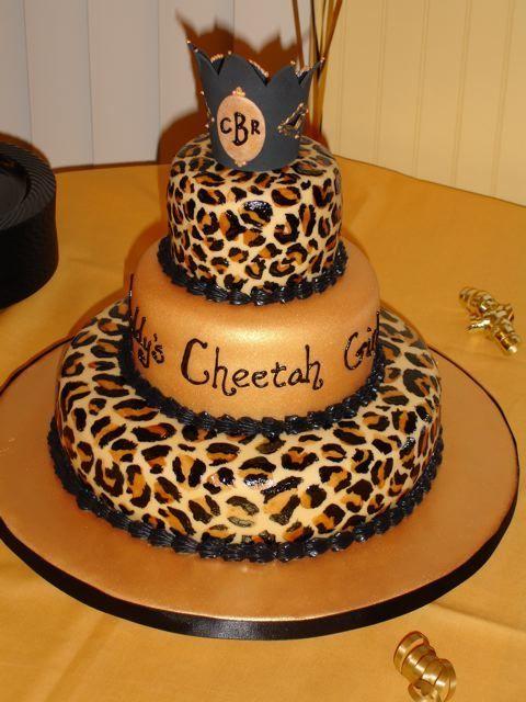 13 Cheetah Birthday Cakes Photo Cheetah Birthday Cake Cheetah