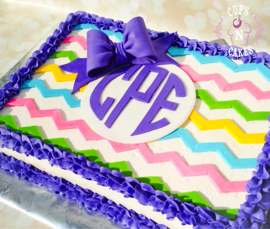 Awe Inspiring 8 Chevron Initial Cakes Photo Chevron Birthday Cake Chevron Funny Birthday Cards Online Alyptdamsfinfo