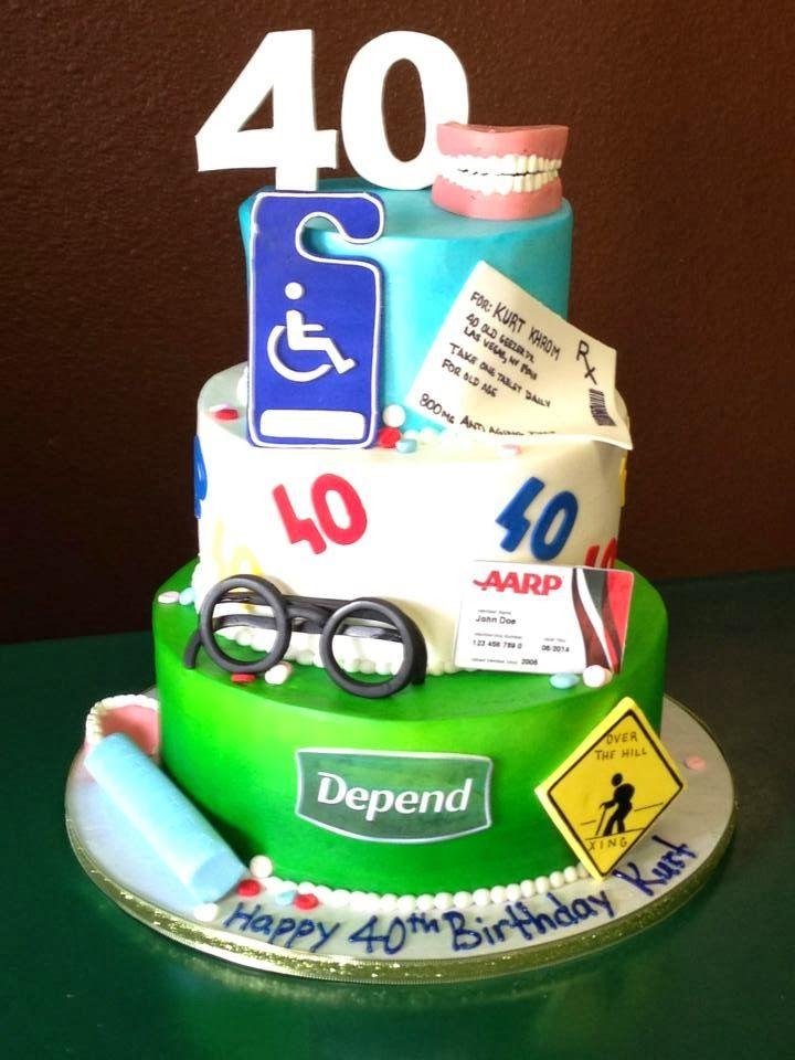 11 40 Birthday Cakes For Men Photo Men 40th Birthday Cake Ideas
