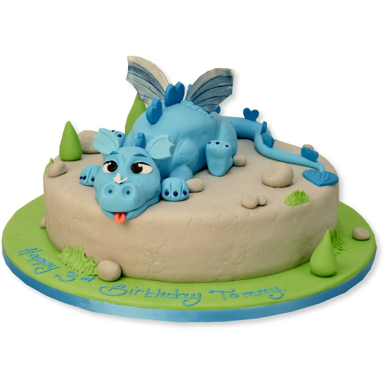 Superb 12 Blue Dragon Celebration Cakes Photo Dragon Birthday Cake Personalised Birthday Cards Veneteletsinfo
