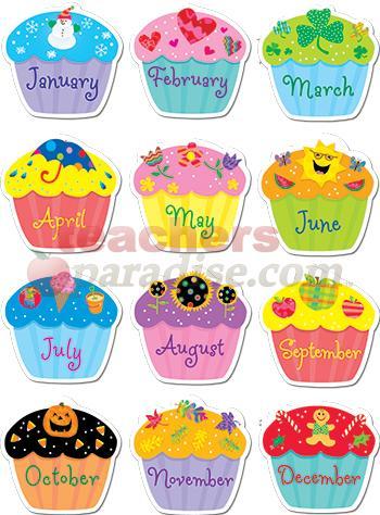 Free Printable Birthday Chart Cupcake