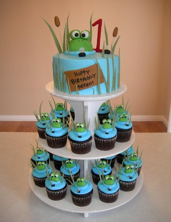 5 Frog Baby Shower Cupcakes Photo Frog Birthday Cupcake Cake Ideas
