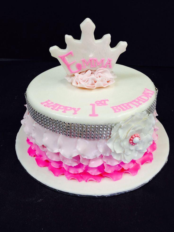 Fantastic 11 Princess First Birthday Cakes For Girl Photo Baby Girl Birthday Cards Printable Benkemecafe Filternl